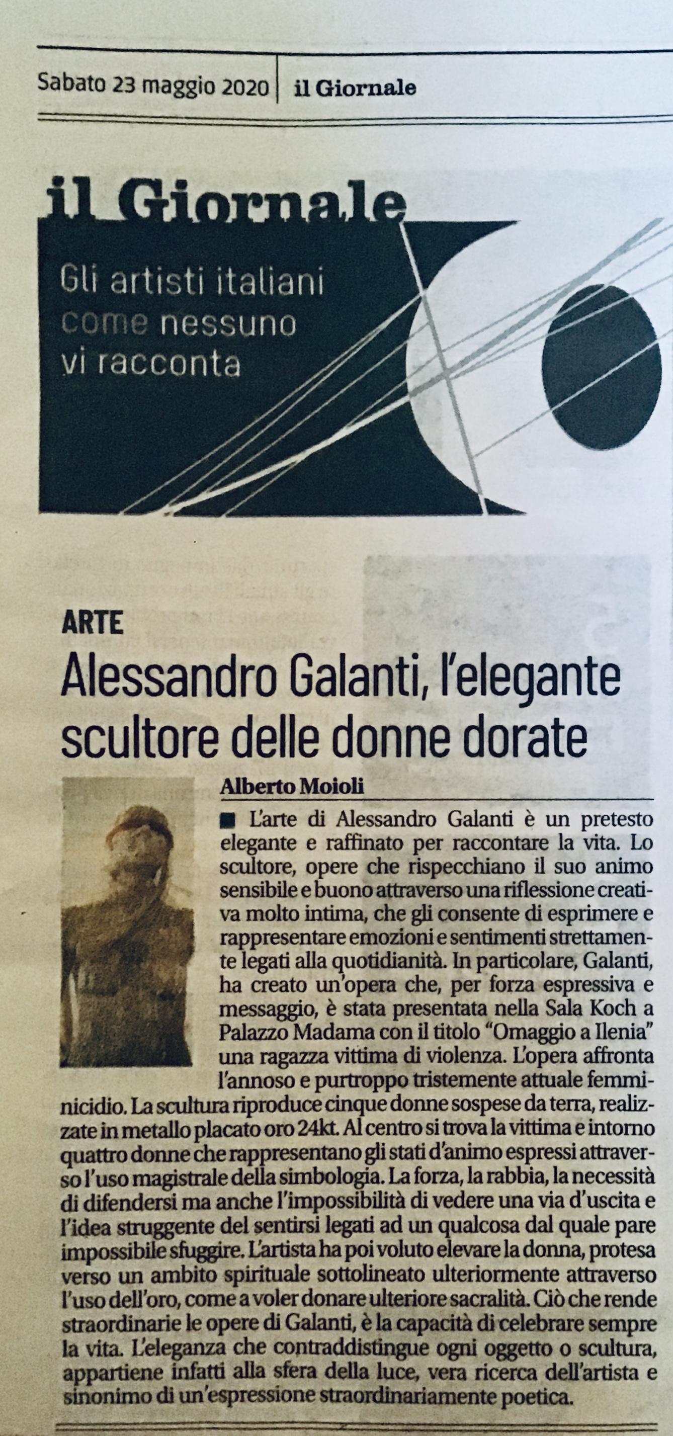 Alessandro Galanti Su IL GIORNALE off