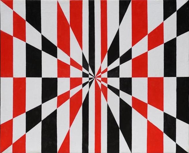 Francesco Guerrieri - Ritmostruttura radiante, 1963, acrilico su tela, 50x60