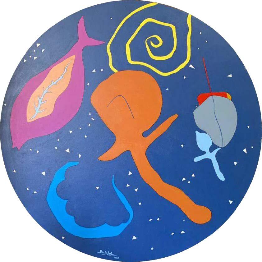 Bakhodir Jalal - Life circle - 2018 - 150cm - Acrylic on canvas